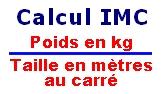Formule pour calculer l'IMC