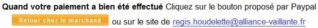 """Après paiement cliquez sur le bouton Paypal ou sur les mots regis.houdelette@alliance-vaillante.fr pour télécharger votre ebook """"Cure Détox"""""""